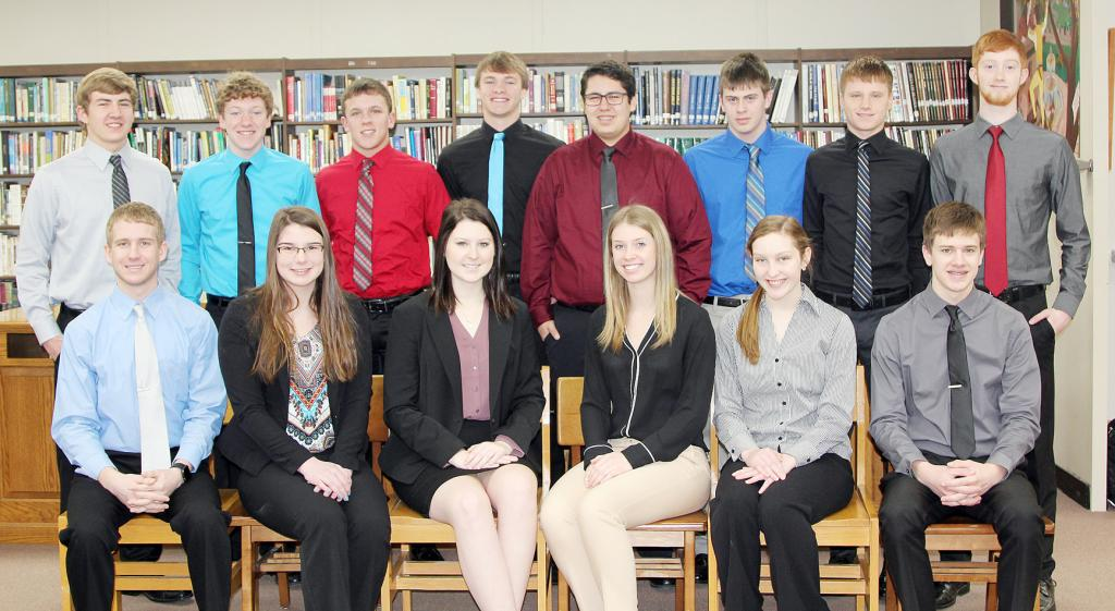 These Harlan Community High School Business Professionals of America students qualified for national competition after top showings at the state competition in the spring.