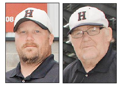 Todd Bladt (left) was interim head coach and Curt Bladt was honorary head coach last fall.