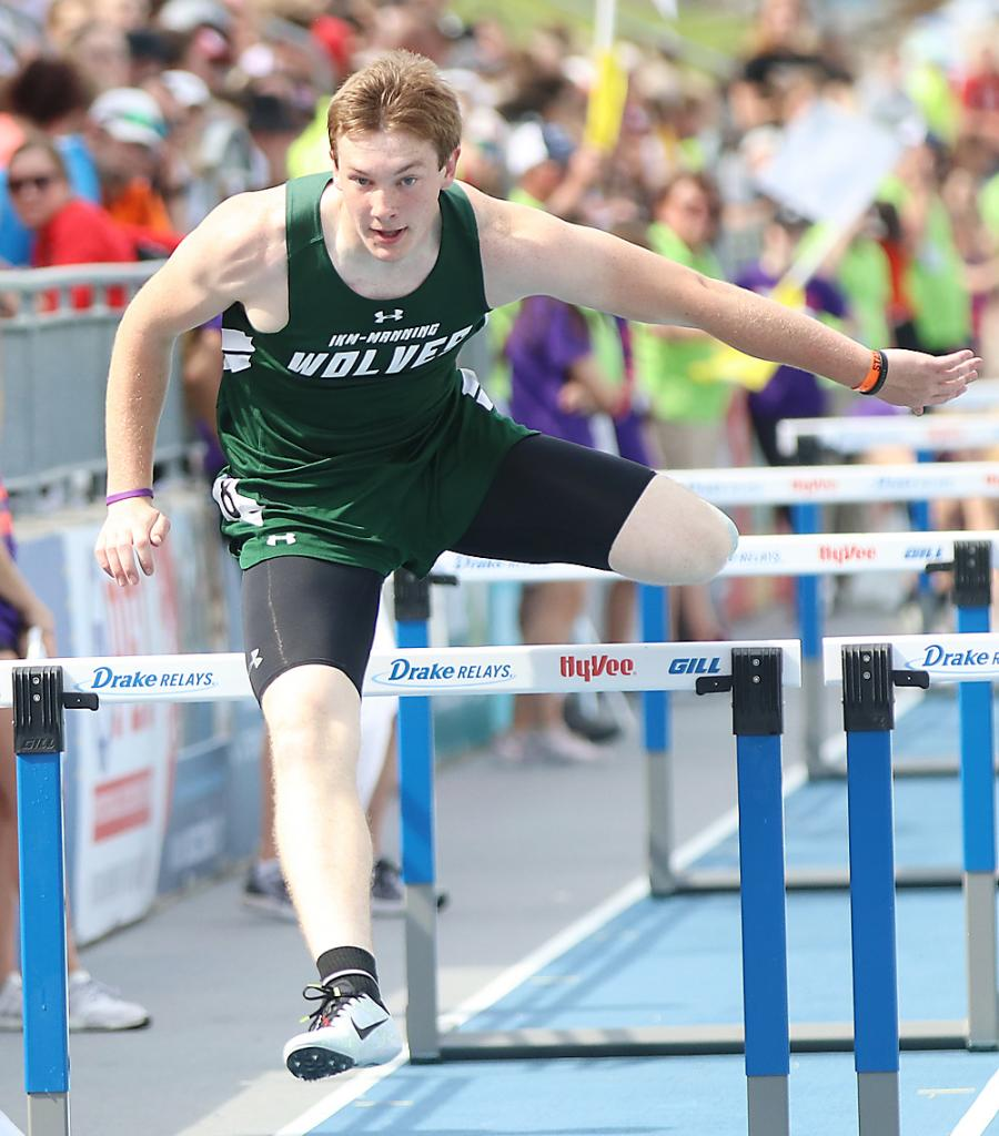 IKM-Manning senior Colten Brandt competed at last year's state track meet in the 110 meter high hurdles, placing 23rd in Class 1A.