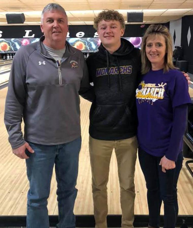 Trey Brotherton (center) is pictured with his parents, Ray and Lori. (Photo contributed)
