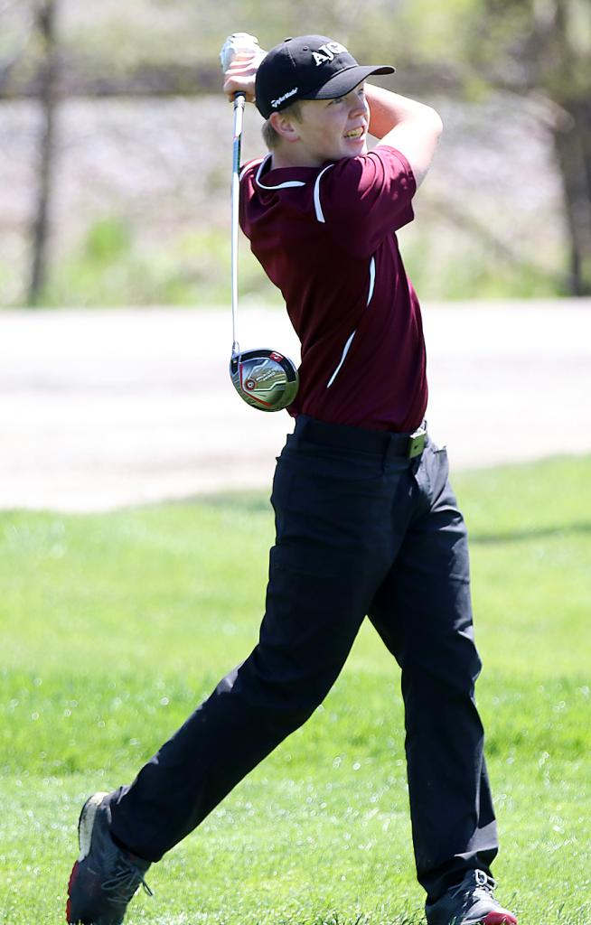 Exira-EHK's Ev Carroll helped the Spartan boys golf team make back-to-back state tournament appearances in 2018 and 2019. He was also last year's Rolling Valley Conference Tournament champion with a round of 71 at the Atlantic Country Club. (Photos by Mike Oeffner)