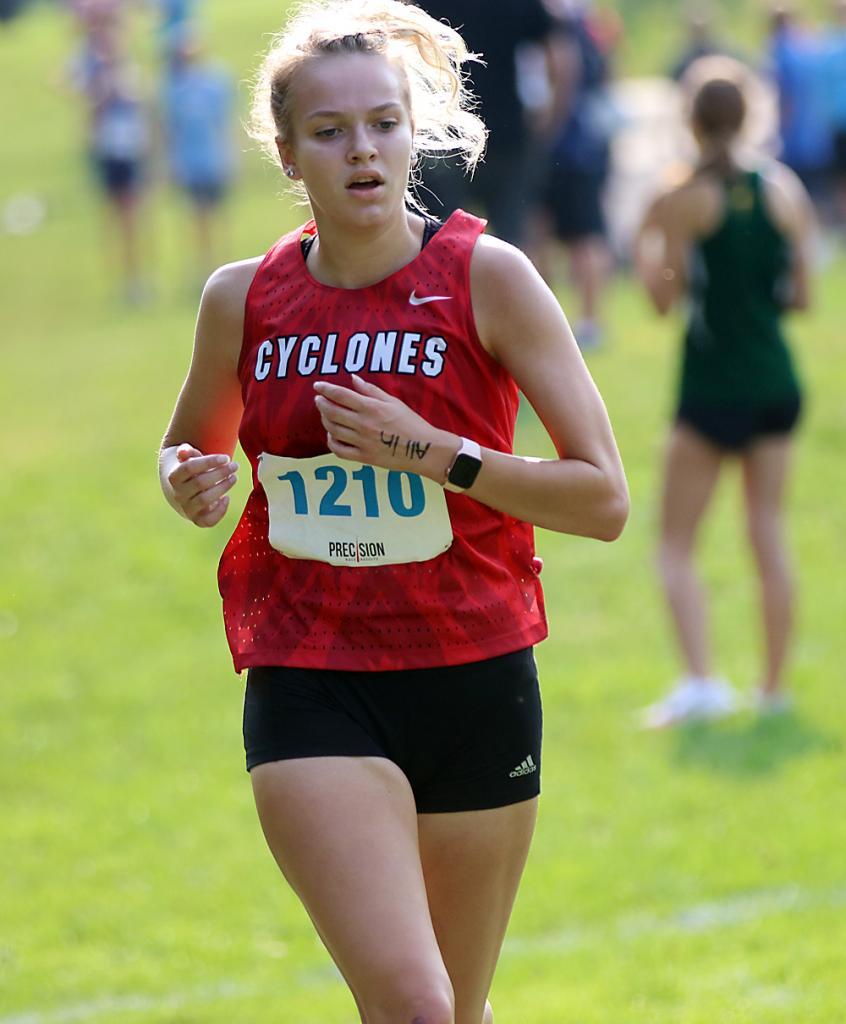 HCHS senior Ellie Gross placed ninth on Saturday.