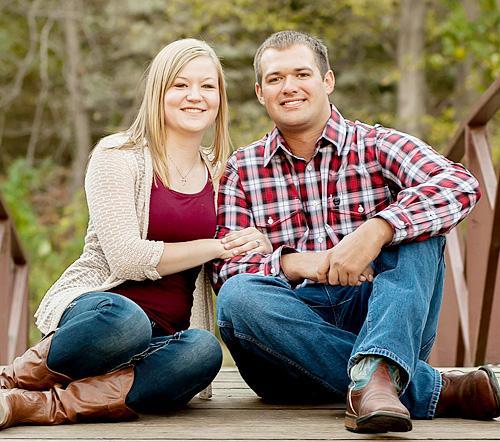 Elsa Brown and Bryan Erlbacher