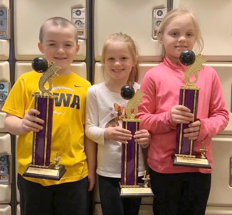Saturday Prep First Place Team: Alley Cats<br />Left-right: Hollis Kempf, Paige Fuhs, Ryleigh Fuhs.