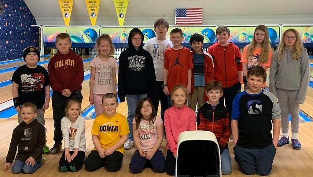 Cyclone Lanes: Saturday Prep League Participants -- Front row, L-R: Owen Bruck, Paige Fuhs, Hollis Kempf, Piper Erickson, Ryleigh Fuhs, Thomas Butler, Jacob O'Brien. Back row, L-R: Jaxon Rold, Conner Bruck, Hailey Strom, Kaitlyn Christensen, Alex Nollen, Logan Strom, Peter Sotelo, Josiah Pedersen, Daytona Butler, Kylie Christensen. (Photos contributed)