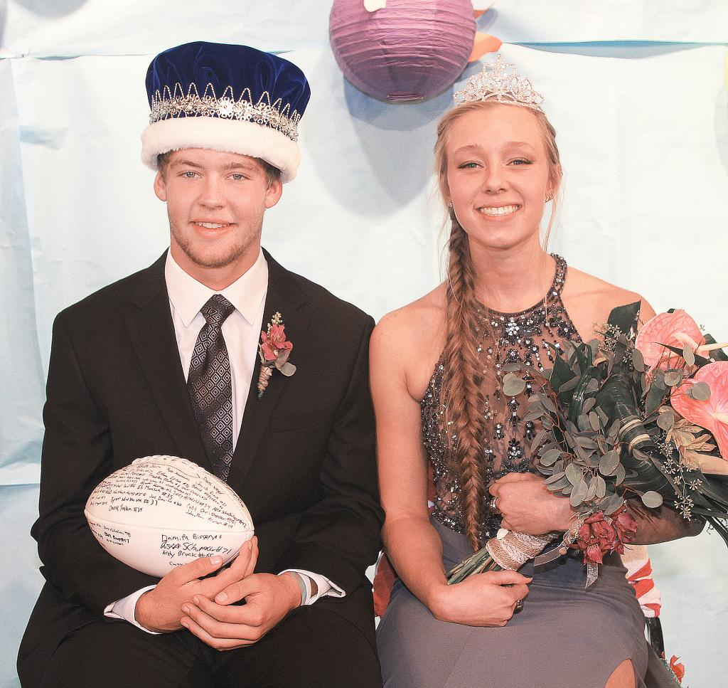 King Jon Owens and Queen Andrea Ferry were crowned royalty for the Harlan Community High School homecoming festivities in September.