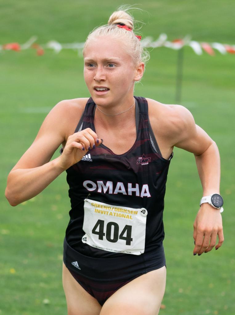 Heidi Hall: UNO track and cross country (Photo courtesy of Omaha Athletics)