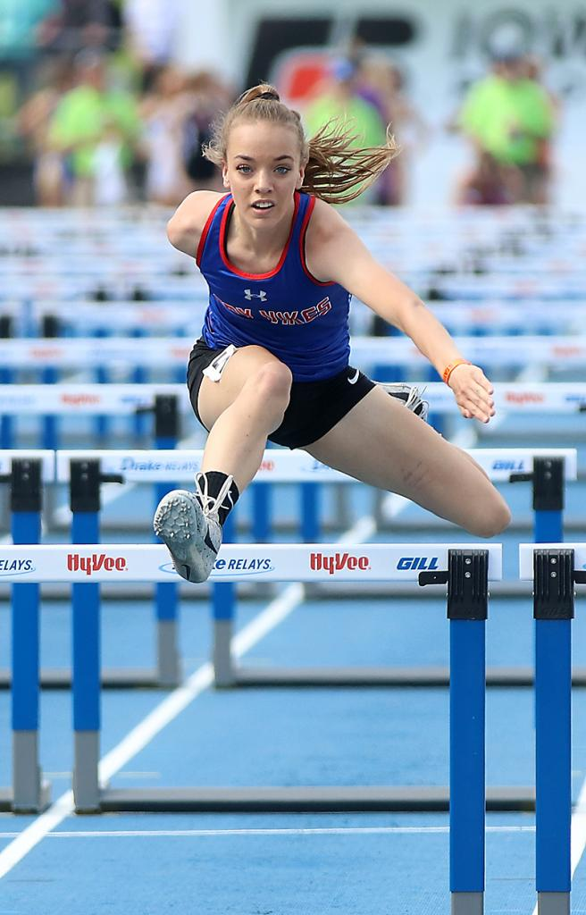 Lady Vike junior Holly Hoepner placed seventh in the 100 hurdles at state last year. She also took third in the 400 hurdles and ran on two top-10 relays.