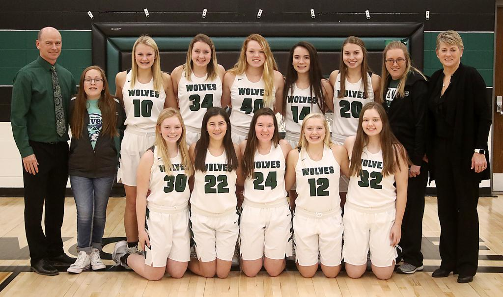 IKM-Manning Girls Basketball Team (Varsity)<br />(Photo by Mike Oeffner)