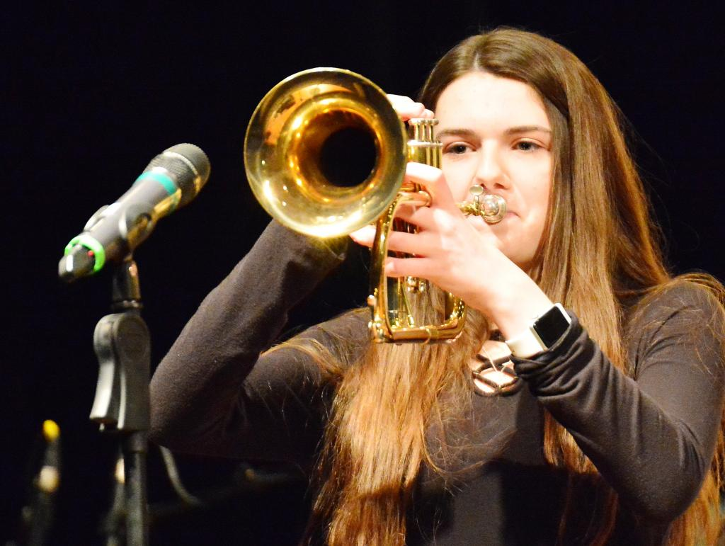 McKenna Mullen solos on the flugelhorn.
