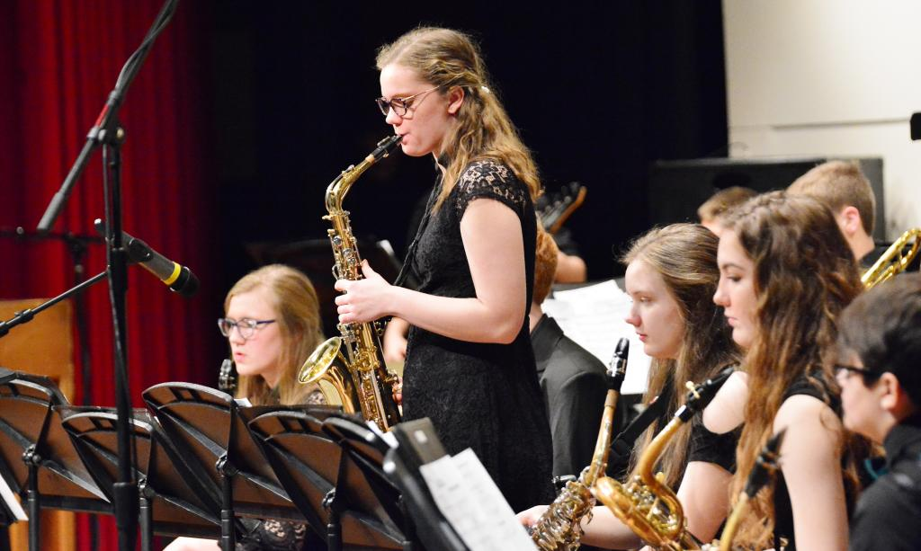 Jessica Christensen solos during one of the tunes.