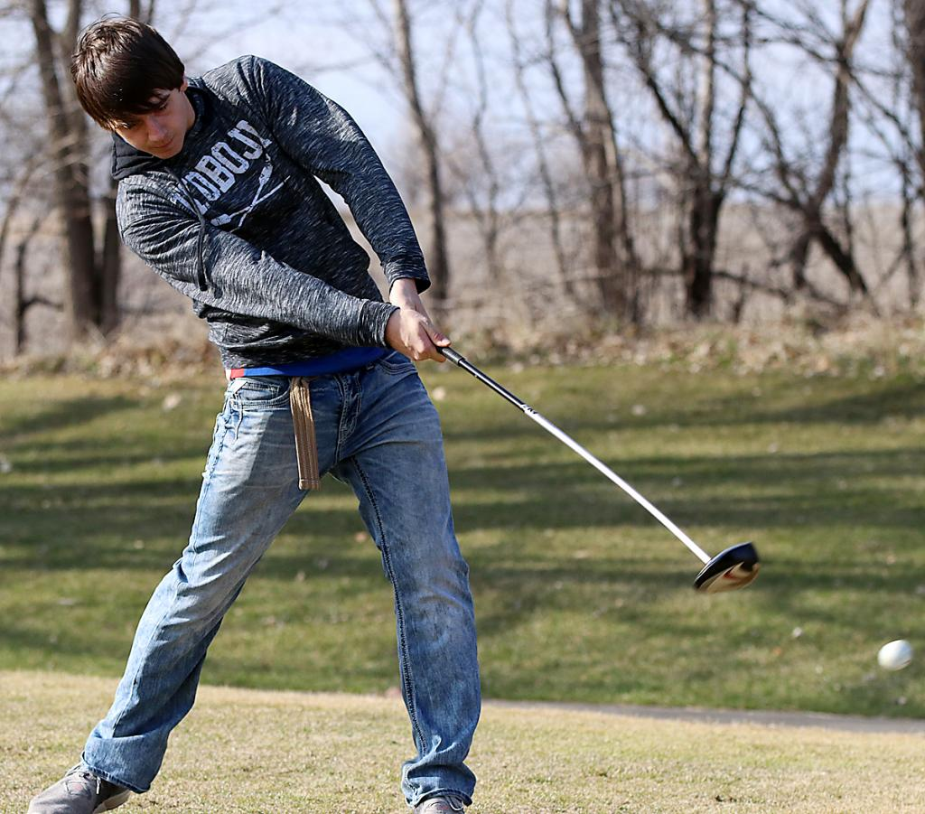 Jackson Woltmann was set to return as the lone senior for this year's AHSTW boys golf team. (Photos by Mike Oeffner)