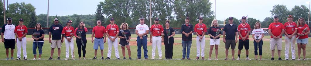 HCHS seniors and their parents were recognized following the Lewis Central game.