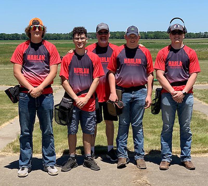 High School Squad 2, left-right: Brett Wageman, Branden Lawyer, Coach Brad Lawyer, Braxton Gaul, Jesse Schwery.