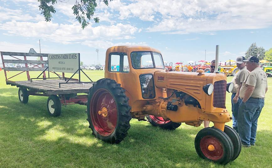 """An array of """"The World's Finest Tractors"""" like this Minneapolis-Moline will be featured at Carstens Farm Days.  Carstens 1880 Farmstead will be open during the 2019 edition of Farm Days which takes place September 7-8 near Shelby.  (Photo contributed)"""