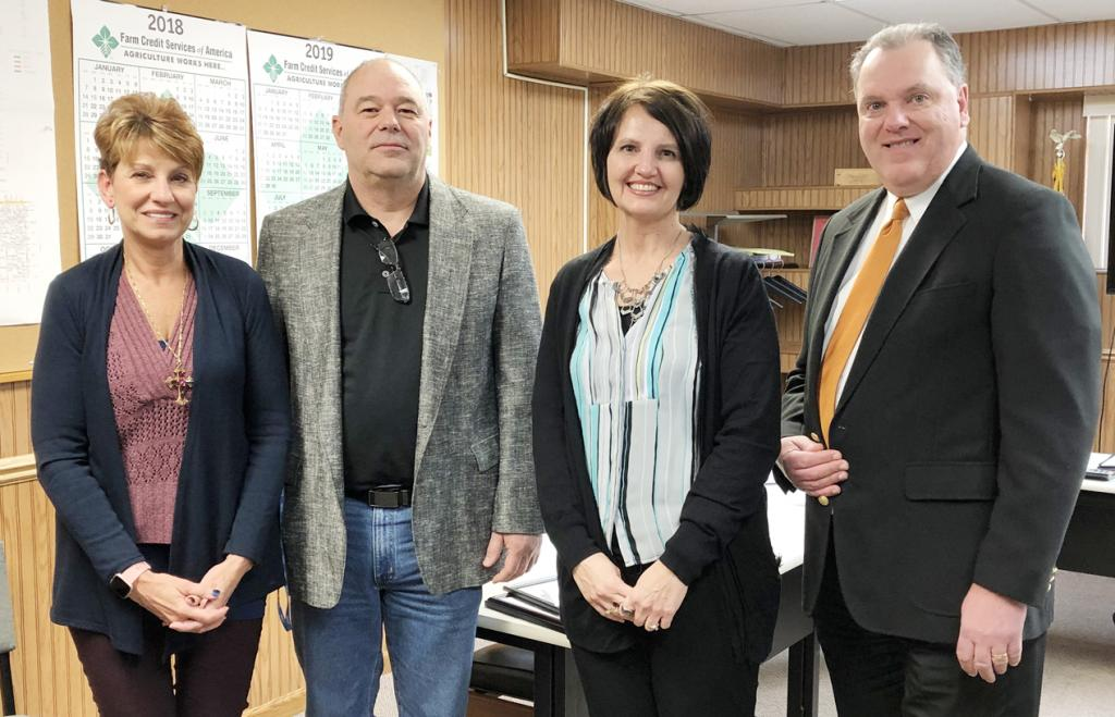 Those taking office include L to R -- Geralyn Greer, recorder; Darin Haake, supervisor; Carolyn Blum, treasurer; and Marcus Gross, Jr., attorney.<br />    Greer, Blum and Gross, Jr. are incumbents while Haake will be serving his first term as county supervisor after being elected in November.
