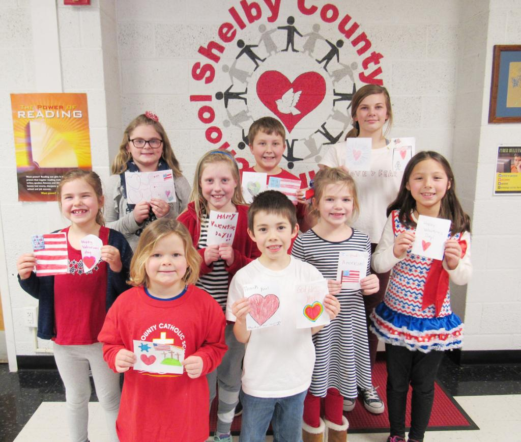 Pictured are Row 1 L to R:  Aubrey Bruck and Xavier Rosmann.<br />    Row 2 L to R:  Halle Shields, Ashlyn Rau, Hope Reinig and Maylee Knapp.<br />    Row 3 L to R:  Katelyn Plambeck, Nolan Muenchrath and Jaylee Schmitz.