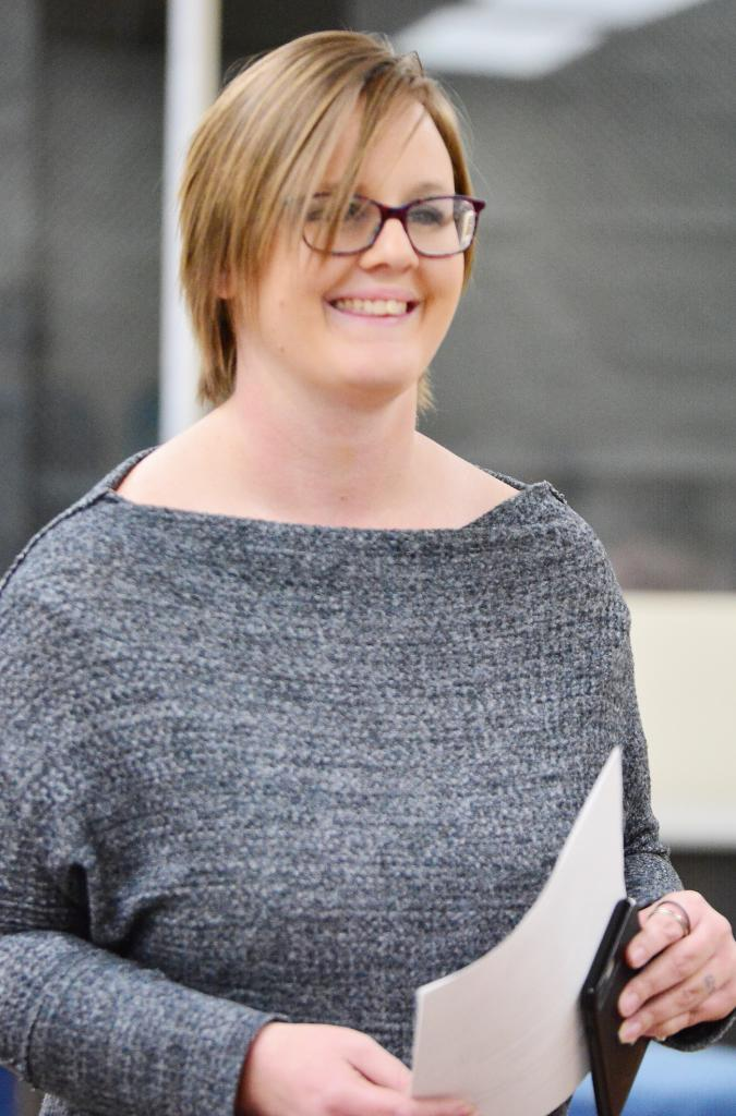 Tarah Devlin-Lawler was appointed to the Harlan Community Schools Board of Education following the resignation of Kathy Mahlberg.  Devlin-Lawler will serve until November, 2019, the next school election.