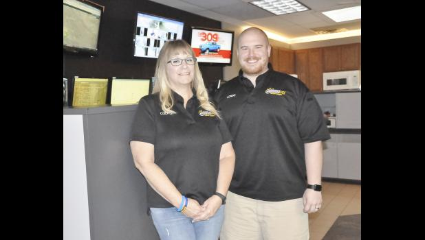 Susan Cooper and Alex Londo have been 911 dispatchers for Shelby County.  Londo recently was promoted to EMA Coordinator replacing Bob Seivert who retired last week.