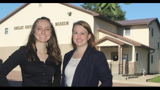 The Shelby County Historical Society's new management team includes Sarah McDonald, executive director (left) and Devin Sweeney, grants and development coordinator.