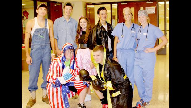 Pictured front, from left: Joey Fields and Spencer Boardman (Apollo and Rocky).