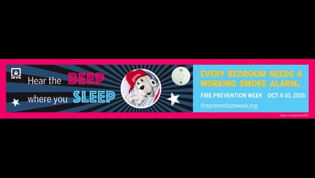 Hear the Beep Where You Sleep, theme for fire prevention week