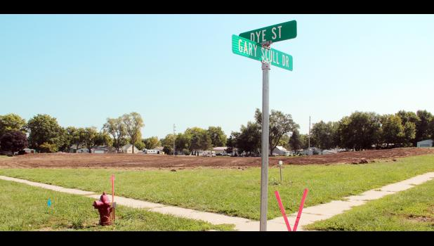 Dirt work has begun at the site of the new Hansen House memory care unit in the Dye Street development area.