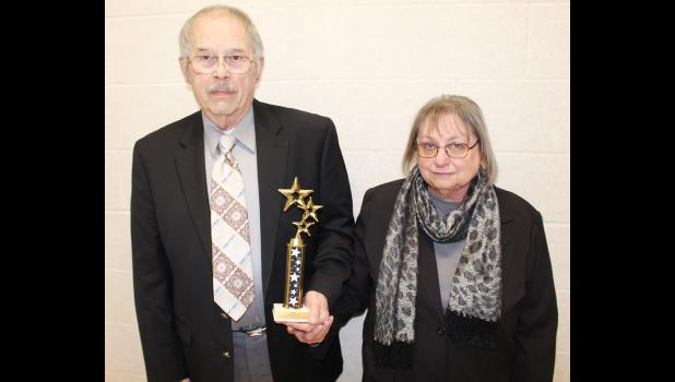 Bob and Glenda Mortenson, Elk Horn, were honored as Shelby County Chamber of Commerce Citizen/Volunteers of the Year at ceremonies Friday night.
