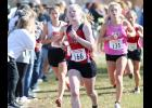 Senior Greichaly Kaster (166) placed 29th to lead the Cyclone girls to an eighth-place team finish at the state cross country meet. (Photos by Mike Oeffner)