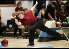 HCHS senior Sam Andersen rolled games of 175 and 145 last Thursday, helping the Cyclone boys defeat Tri-Center in the first dual meet of the season. (Photos by Mike Oeffner)