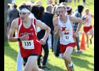 Harlan Community junior Trey Gross (left) advanced to state by placing fifth at Thursday's 3A State Qualifying Meet in Atlantic. (Photos by Mike Oeffner)