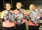 Bobbie Schechinger, Grace Eckermann, Rachel Anderson (L to R) cheer on the Cyclones during homecoming last week.