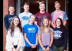 The homecoming court includes king and queen candidates, front L to R -- Shelbi Wilson, Mary Carroll, Jada LaCanne and Destiny Dawson.     Back L to R -- Cole Burmeister, Ian Leader, Aaron Allen and Trey Nelson.