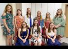 Queen candidates this year are front L to R -- Emily Taggs, Shaylee Yates and Hannah Tunender.  Back L to R -- Anna Ahrenholtz, Miranda Lingle, Mary Carroll, Kara Weis, McKenna Boardman and Kaylee Rivera.