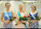 Robinson (middle) reigned over the weekend's fair activities along with the two runners-up princesses Allyssa Obrecht, left, (first runner-up) and Emily Taggs (second runner-up).  See this week's Harlan News-Advertiser on Friday for fair highlights.