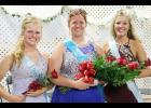 Emma Barnes (middle) was named fair queen.  First runner-up was Cassidy Robinson (left) and second runner-up was Jessica Buman.