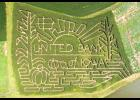 The corn maze this year already is a huge hit at Grandpa's Pumpkin Farm west of Panama.